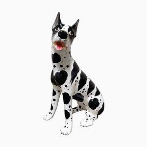 Vintage Hund Skulptur aus Keramik, 1960er