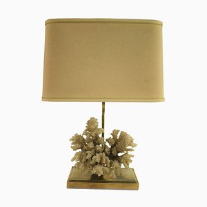 Brass Coral Table Lamp, 1970s