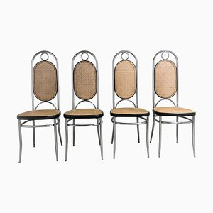 No. 17 Chrome Dining Chairs from Thonet, Set of 4, 1970s