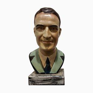 Vintage Gips Büste eines Herrn, 1950er