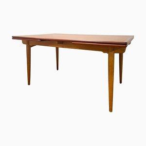Tavolo da pranzo AT-312 Mid-Century in massello di quercia e teak di Hans J Wegner, Danimarca
