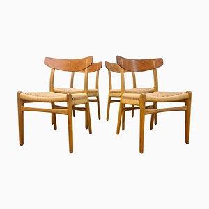 CH-23 Stühle von Hans J. Wegner für Carl Hansen & Son, Dänemark, 1950er Jahre, 4er-Set