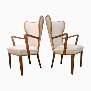 Art Deco Lounge Chairs, Sweden, 1940s, Set of 2