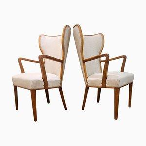 Art Deco Sessel, Schweden, 1940er, 2er Set