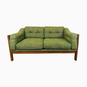 Mid-Century Sofa aus Palisander und Grünem Polster Monte Carlo, Schweden, 1960er
