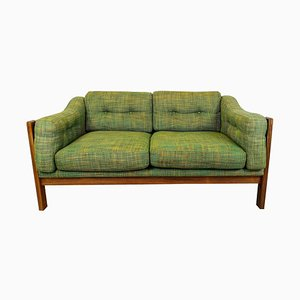 Mid-Century Rosewood and Green Cushions Sofa Monte Carlo, Sweden, 1960s