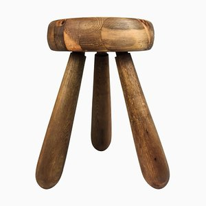 Sculptural Stool Attributed to Ingvar Hildingsson, Sweden, 1970s
