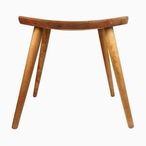 Swedish Stool in Birch by Yngve Ekström Palle, 1970s
