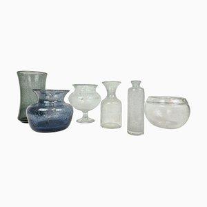 Mid-Century Vases by Erik Hoglund, Sweden, 1960s, Set of 6