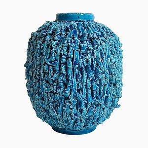Vase Chamotte Mid-Century par Gunnar Nylund pour Rorstrand, Suède