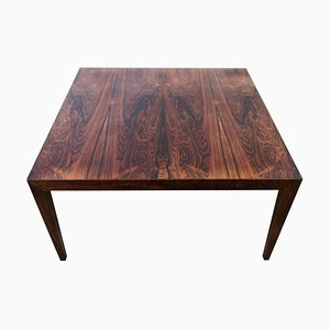 Large Mid-Century Coffe Table Rosewood from Severin Hansen, Denmark.