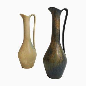Keramik Vasen von Gunnar Nylund für Rörstrand, Schweden, 2er Set