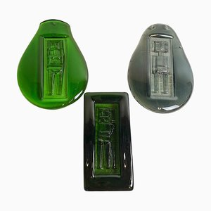Kunstglas Stücke von Erik Höglund für Kosta Boda, Schweden, 1960er, 3er Set