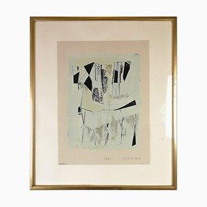 Lithographie nach einer Zeichnung von Marino Marini
