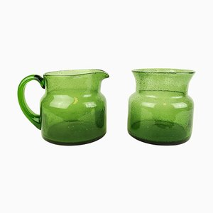 Vase and Jug by Erik Höglund Boda, Sweden, Set of 2
