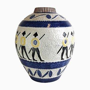 Große Gladiator Vase von Leif Ueland, 1950er