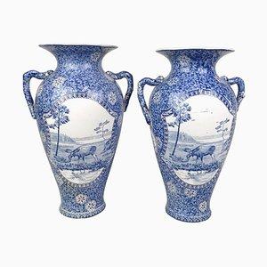 Art Nouveau Moose Vases from Rörstrand, Sweden, Set of 2