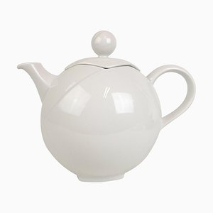 White Teapot from Rörstrand, Sweden, 1980s