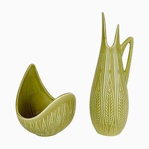 Rialto Keramik Schale und Vase von Gunnar Nylund für Rörstrand