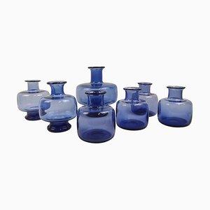 Mid-Century Vasen von Per Lutken für Holmegaard, Dänemark, 7er Set
