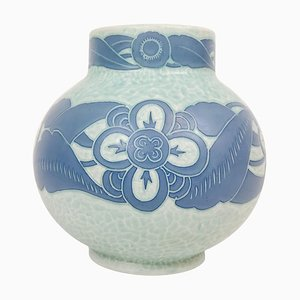 Art Deco Sgraffito Vase by Josef Ekberg for Gustavsberg, Sweden, 1922