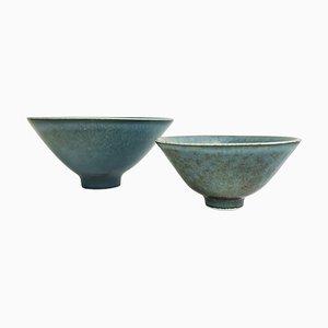 Mid-Century Keramik Schalen von Carl Harry Stålhane für Rörstrand, Schweden, 1950er, 2er Set