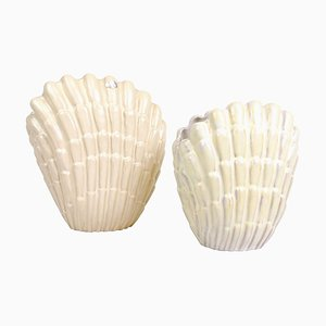 Seashell Vases by Vicke Lindstrand for Upsala Ekeby, Sweden, Set of 2