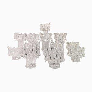 Scandinavian Modern Sunflower Kerzenständer von Göran Wärff für Kosta, 14er Set