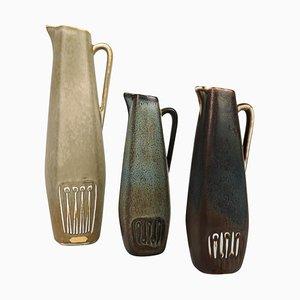 Mid-Century Keramikteile von Gunnar Nylund für Rörstrand, 1950, Schweden, 3er Set