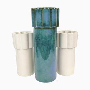 Skandinavische moderne konvexe Vasen von Karin Björquist für Gustavsberg, Schweden, 3er-Set