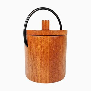 Danish Teak Ice Bucket by Flemming Digsmed for Nissen, 1960s