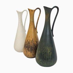 Vasi Mid-Century in ceramica di Gunnar Nylund per Rörstrand, Svezia, set di 3