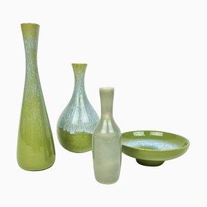 Mid-Century Keramik Vasen von Gunnar Nylund für Rörstrand, Schweden, 4er Set