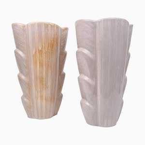 Large Mid-Century Ceramic Vases by Gunnar Nylund for Rörstrand, Sweden, Set of 2