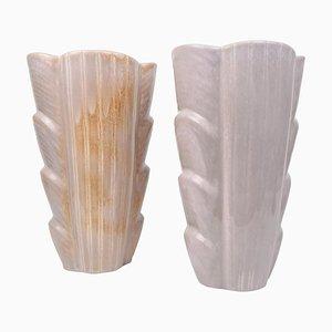 Large Mid-Century Ceramic Vases by Gunnar Nylund for Rörstrand, Sweden, Set of 2