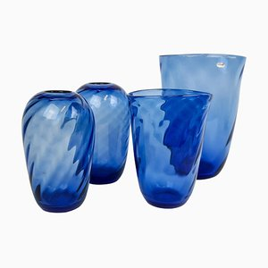 Mid-Century Vases in Glass from Reijmyre, Sweden, 1940s, Set of 4