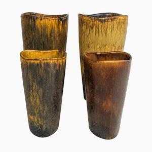 Keramikvasen aus der Mitte des Jahrhunderts von Gunnar Nylund für Rörstrand, Schweden, 4er-Set