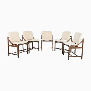 Vintage Dining Chairs by Ico Luisa Parisi, 1970s, Set of 5