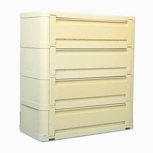 Vintage Cream Colored Shoe Cabinet By Olaf von Bohr for Kartell, 1970s
