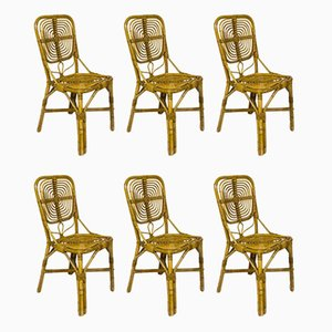 French Dining Chairs, 1970s, Set of 6