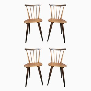 Scandinavian Dining Chairs, 1950s, Set of 4
