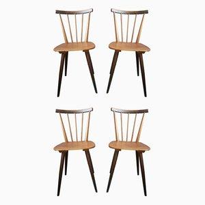 Skandinavische Esszimmerstühle, 1950er, 4er Set