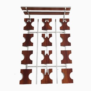 Large Rosewood and Metal Rack, 1960s