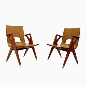 Armchairs by Ico Parisi for Malatesta And Mason, 1950s, Set of 2