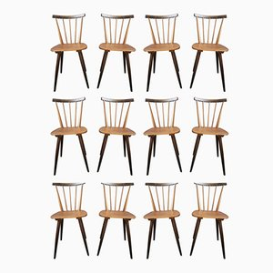 Dining Chairs, 1950s, Set of 12