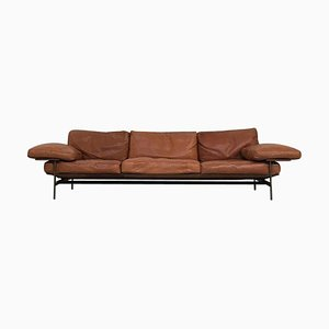 Leather and Burnished Steel Diesis Sofa by Antonio Citterio for B&B Italia, 1979