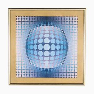 Victor Vasarely, Op Art, Offset Gelatine Paper, 1970