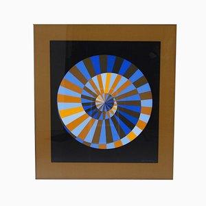 Victor Vasarely, Munich Spiral, Screen Printing