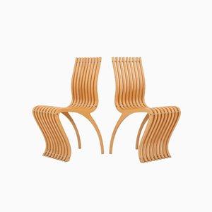 Schizzo Esszimmerstühle von Ron Arad für Vitra, 1989, 2er Set