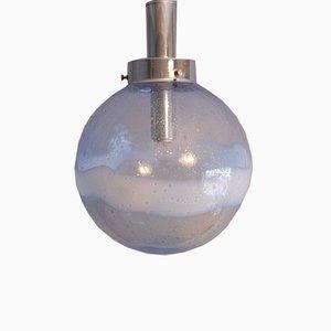Italian Murano Glass Globe Pendant with Bold Swirl, 1960s